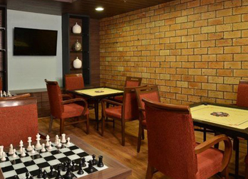 Carrom / Chess game at Celebrity Resorts Coimbatore