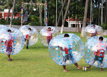 Land Zorbing at Celebrity Resorts in Coimbatore